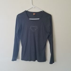 Grey heart long sleeve